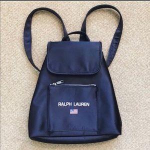 Ralph Lauren Vintage Backpack Navy Blue